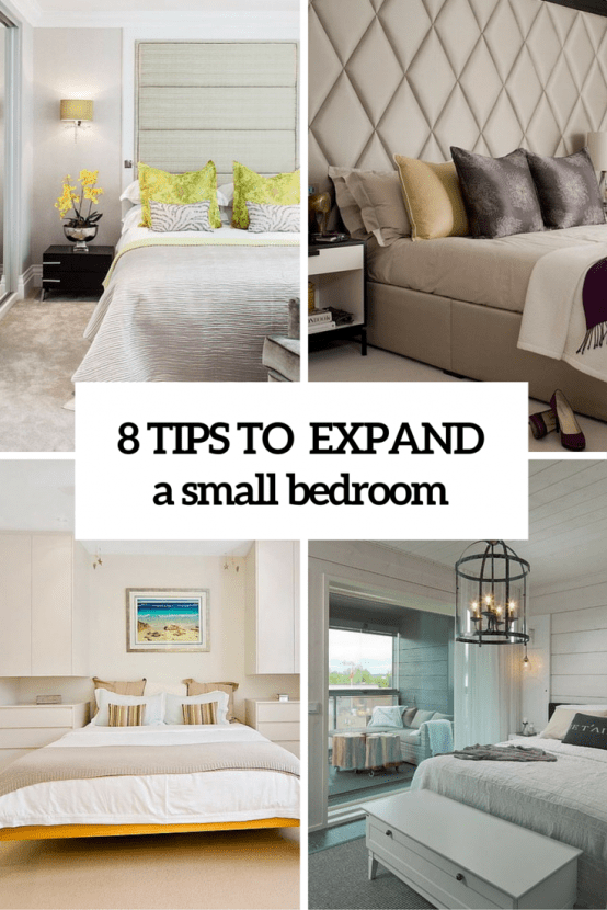 8 Practical Tips To Visually Expand A Small Bedroom. cool bedroom decoration Archives   DigsDigs