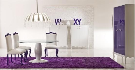 Amazing Violet Dining Room – Sinfonia 14 by Moda