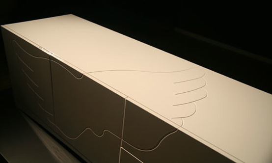 Angel Minimalist White Sideboard
