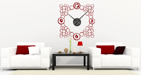 Wall Decals Dezign With A Z : Awesome wall clocks stickers by dezign with a z