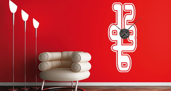 Awesome Wall Clocks Wall Stickers by Dezign with a Z | DigsDigs