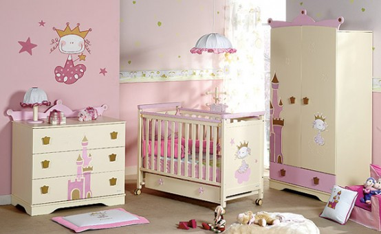 baby nursery furniture for prince and princess room
