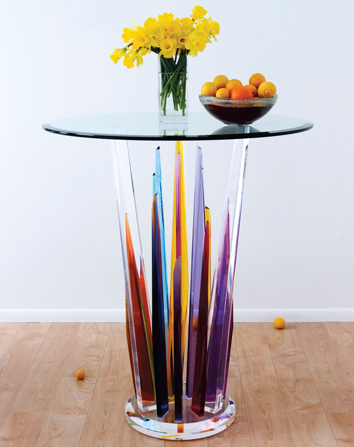 Beautiful Glass Bar Tables By H Studio Digsdigs