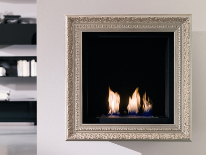 Beautiful Wall Mount Fireplace in Classic Style by Ozzio