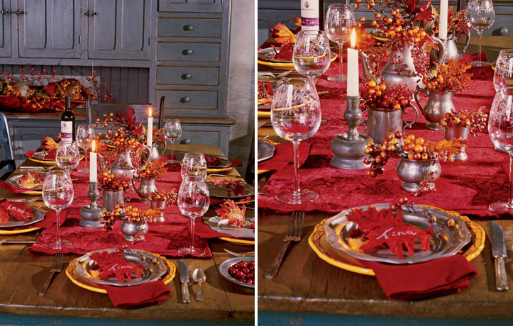 33 beautiful thanksgiving table decorations digsdigs for Gorgeous thanksgiving table settings