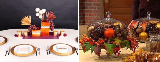 Sometimes all you need for a beautiful holiday table are pops of orange, yellow, red, green and gold.