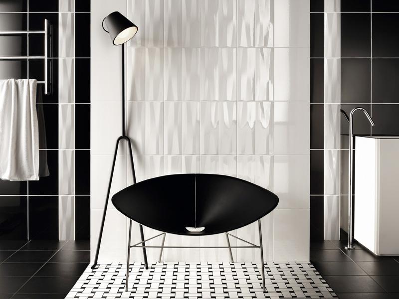 Bathroom Tiles Black : Beautiful wall tiles for black and white bathroom york