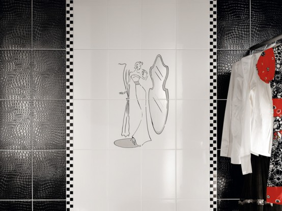 Perfect Beautiful Wall Tiles For Black And White Bathroom York By NovaBell Photo