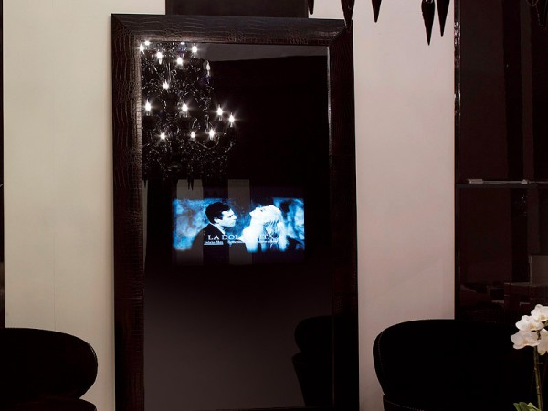 Black Mirror With Integrated LCD By Fendi Casa