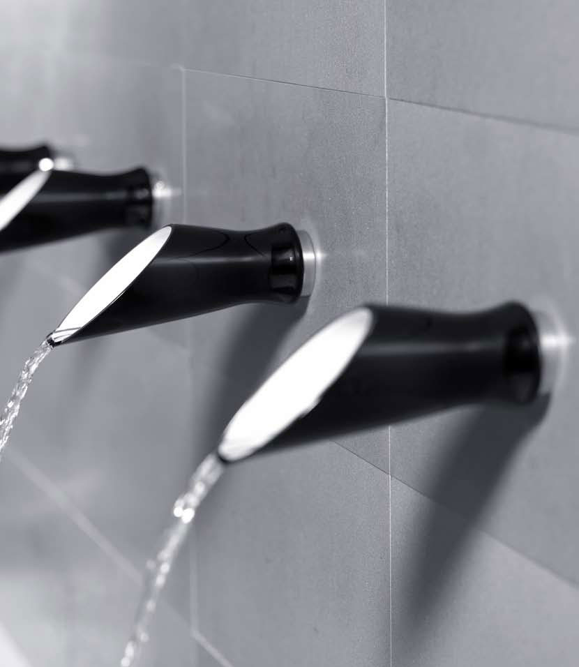 Black Bathroom Taps : Black and White Bathroom Taps and Shower Heads -Soffi by Bongio