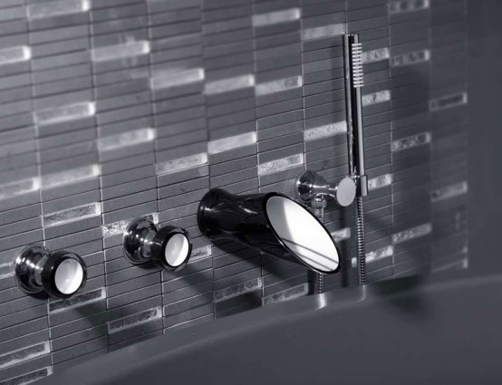 Black And White Bathroom Taps And Shower Heads Soffi By Bongio