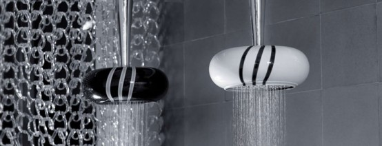 Black and White Bathroom Taps and Shower Heads – Soffi by Bongio