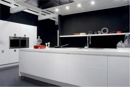 Black And White Kitchen Design Ideas