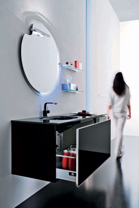 Modern Black Bathroom Furniture – Onyx by Stemik Living | DigsDigs