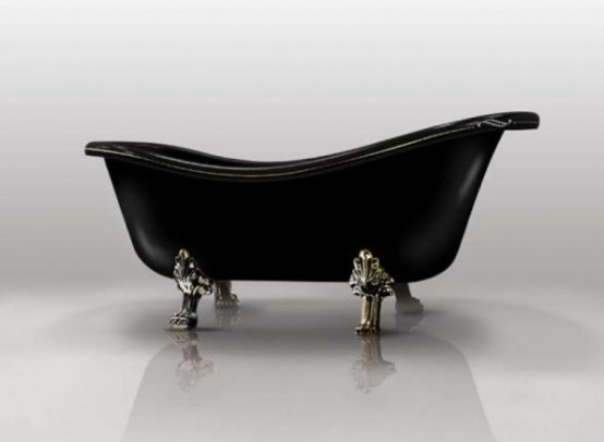 Black Freestanding Bathtubs By Gruppo Treesse