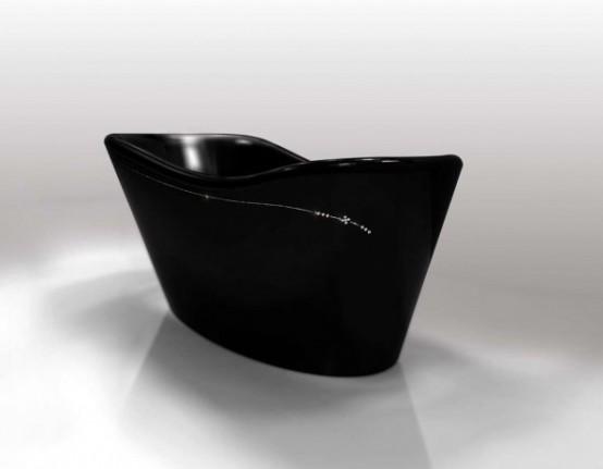 Black Freestanding Bathtubs By Gruppo Treesse