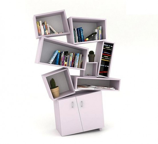 Tectonic Bookcase By The Young Ossetian Designer