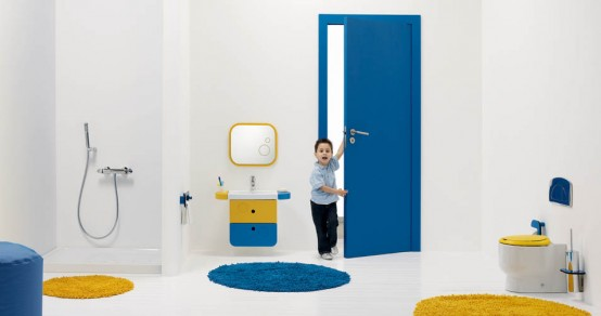 Superb Bright And Funny Kids Bathroom Design Wckids By Sanindusa