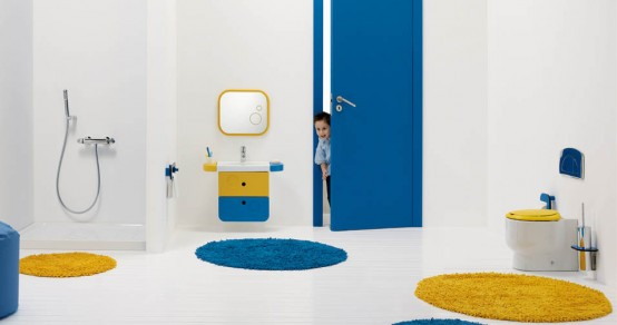 Awesome Bright And Funny Kids Bathroom Design Wckids By Sanindusa