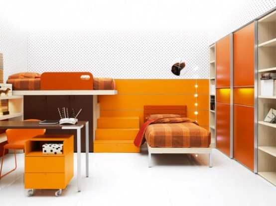 Teen Bedroom Furniture - Bright And Ergonomic Furniture For Modern Teen Room By Battistella Industria Mobili