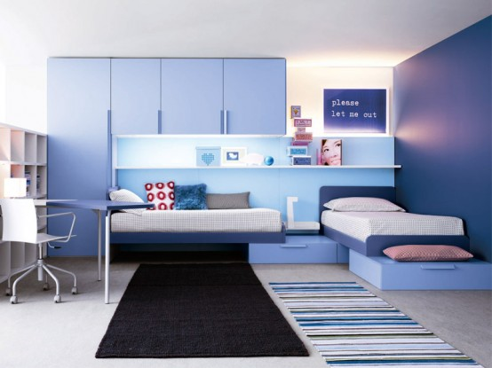 bright and ergonomic furniture for modern teen room by battistella industria mobili