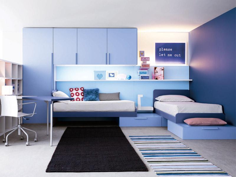 Bright And Ergonomic Furniture For Modern Teen Room By Battistella Industria Mobili