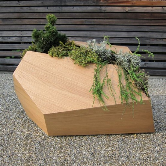 Wood Planters That Remind Real Life Growing Situations