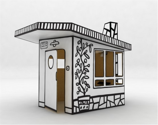 Cardboard Play House Villa Julia By Magis