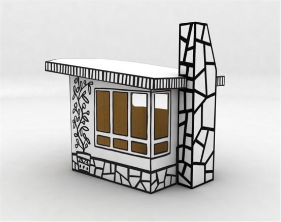 Cardboard Play House Villa Julia By Magis DigsDigs