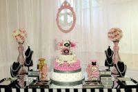 Chanel-themed modern baby shower