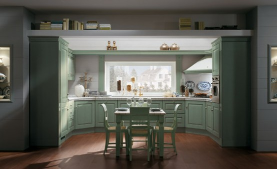 Elegant and Cozy Classic Kitchens – Absolute Classic by Scavolini