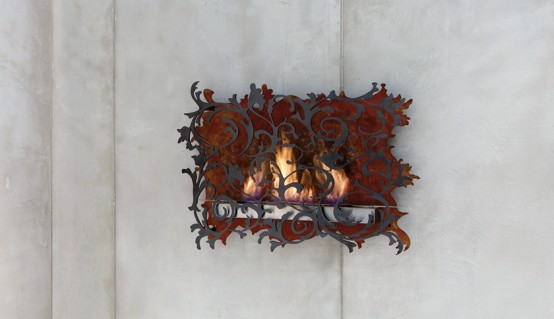 Charming Wall Mount Fireplace Mazzeto By Redwitz