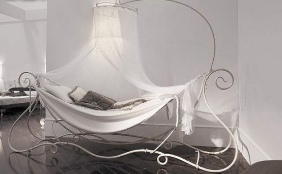 Charming Wrought Canopy Bed Amaka By Giusti Portos