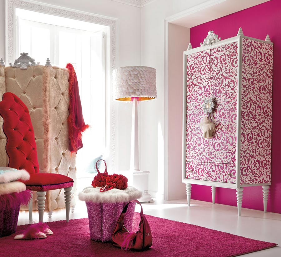Charming and opulent pink girls room altamoda girl for Bedroom designs for girls