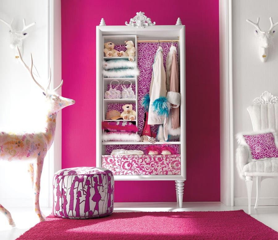Charming and opulent pink girls room altamoda girl - Room decor ideas for girls ...