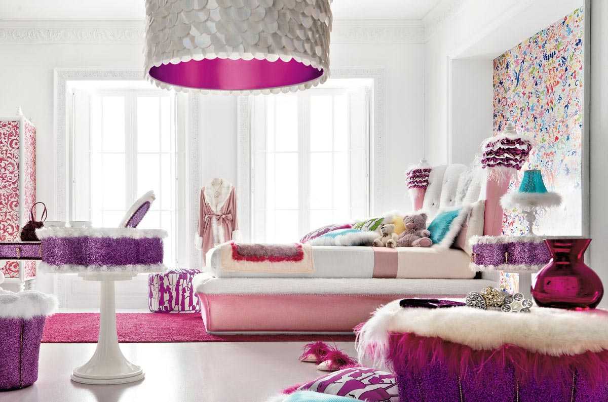 Charming and opulent pink girls room altamoda girl for Girl bedrooms ideas