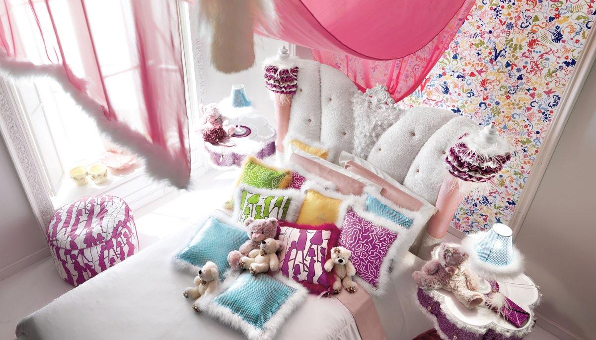 Мебели и декора для создания прекрасной комнаты для маленьких девочек