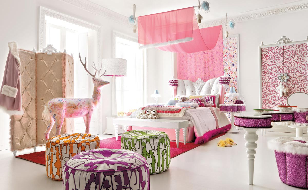 Charming and Opulent Pink Girls Room – Altamoda Girl | DigsDigs