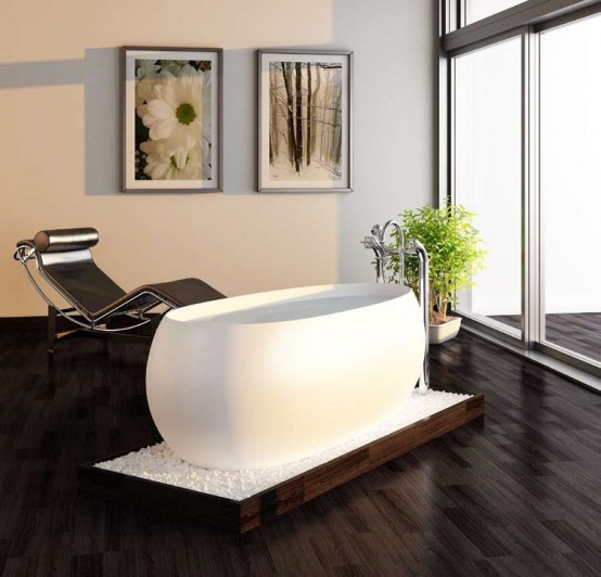Charming Freestanding Bathtub – Egg by Prodigg