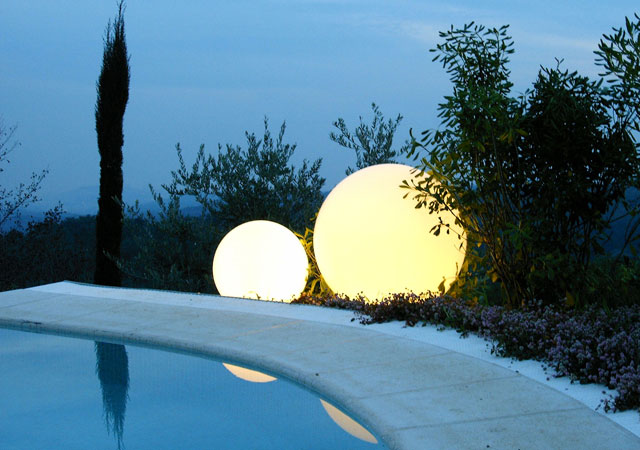 Charming Garden And Swimming Pool Lights By Slide Digsdigs
