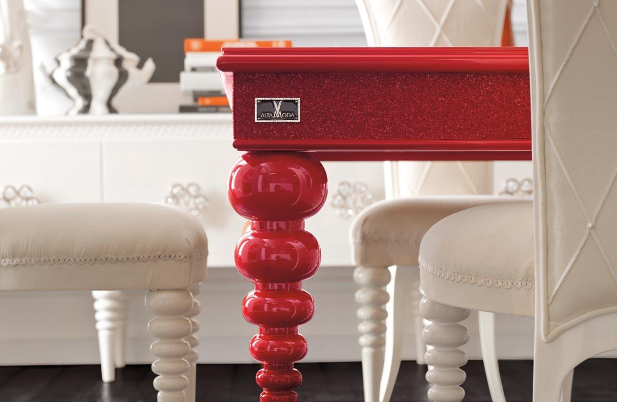chic and very elegant dining room set altamoda home. Black Bedroom Furniture Sets. Home Design Ideas