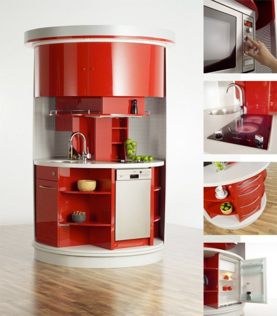 Space Saving Kitchen Design Clever Space Saving Ideas For Small Room Layouts DigsDigs