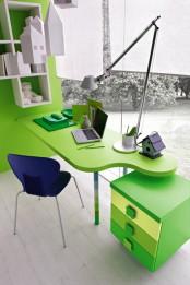 Contemporary Green Kids Bedroom By Stemik Living