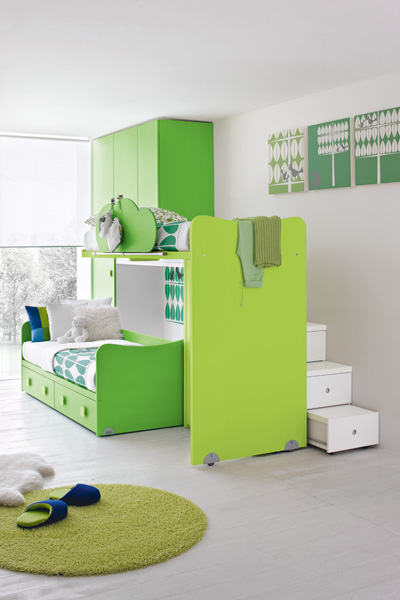 Wallpaper Living Room on Contemporary Green Kids Bedroom By Stemik Living   Digsdigs