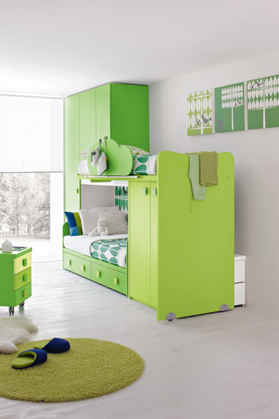 Contemporary Green Kids Bedroom By Stemik Living