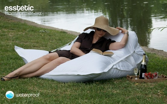 Contemporary Outdoor Waterproof Bean Bag Pillow
