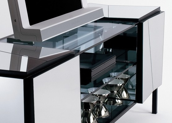 Contemporary Sideboards With Mirror Finish Psiche By Tonelli
