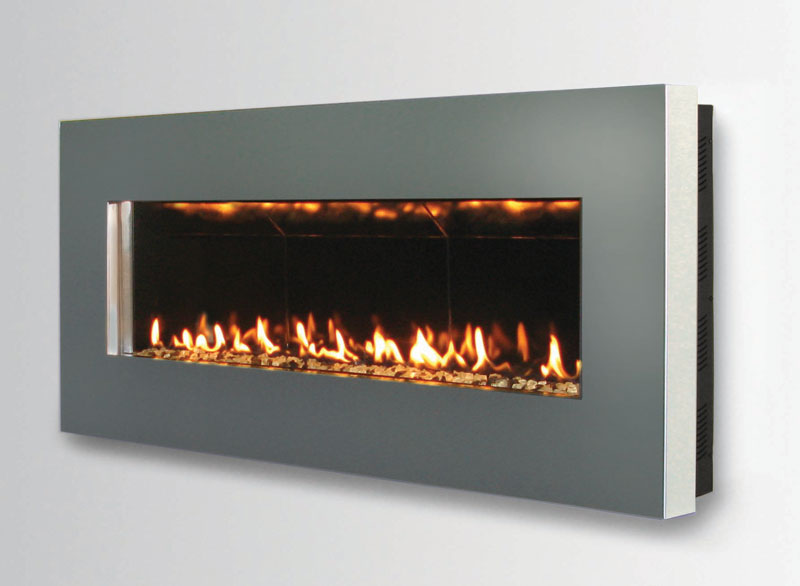 Contemporary wall mount fireplace slim by spark modern for Fireplace wall
