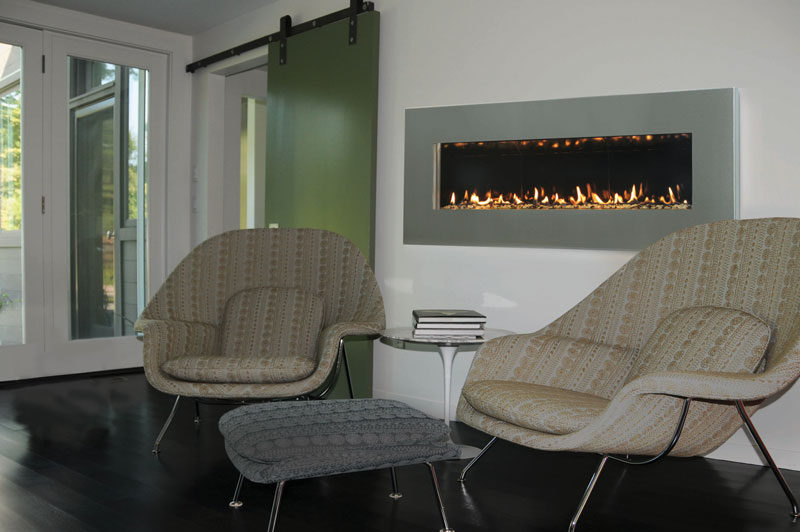 Contemporary Wall Mount Fireplace Slim By Spark Modern Fires