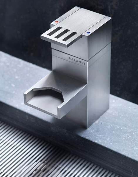 Contemporary Waterfall Faucet With Industrial Design By Balance